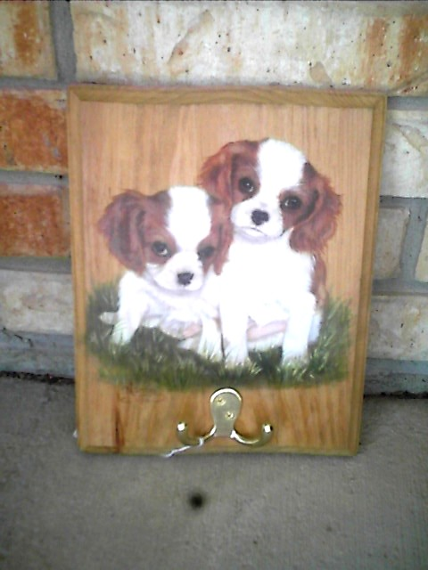 Leash  Holder King Charles puppies